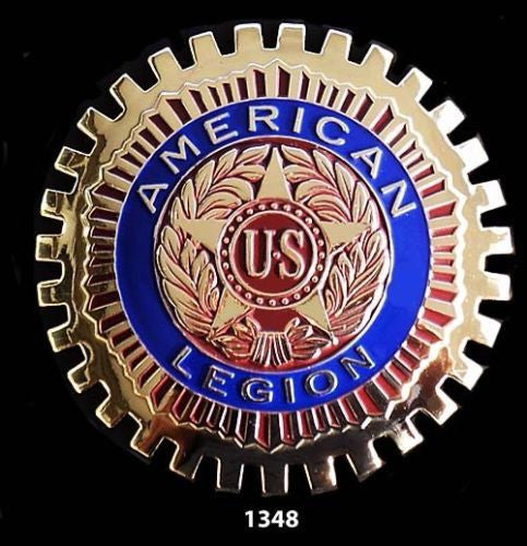 AMERICAN LEGION CAR BADGE EMBLEM FOR GRILLE