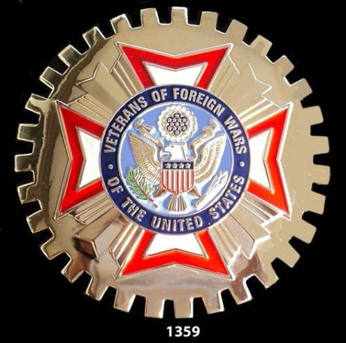 VFW VETERANS OF FOREIGN WARS CAR GRILLE BADGE EMBLEM