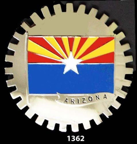 ARIZONA STATE FLAG CAR GRILLE BADGE EMBLEM