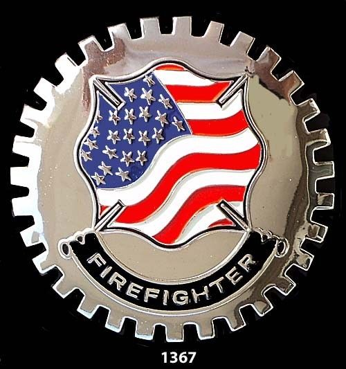 AMERICAN FIREFIGHTER CAR TRUCK GRILLE BADGE EMBLEM