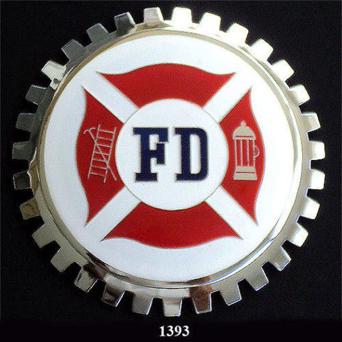 FIRE DEPARTMENT BADGE EMBLEM FOR CAR TRUCK SUV