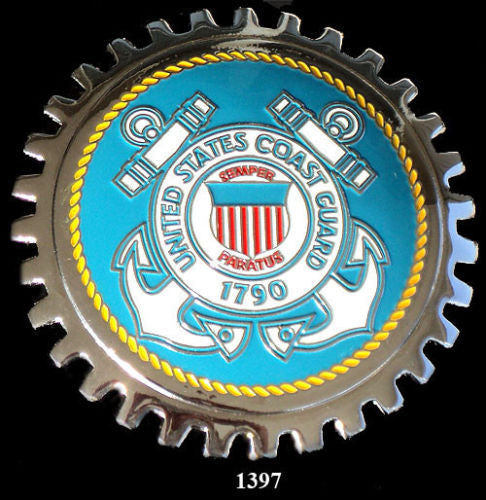 UNITED STATES COAST GUARD CAR GRILLE BADGE EMBLEM
