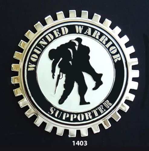 WOUNDED WARRIOR SUPPORTER CAR TRUCK GRILLE BADGE EMBLEM