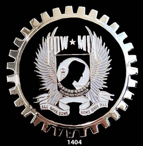 POW MIA CAR TRUCK GRILLE BADGE EMBLEM