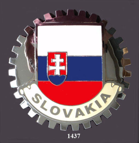 SLOVAKIAN FLAG GRILLE BADGE EMBLEM FOR CAR