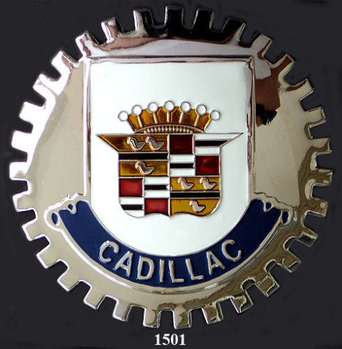 CADILLAC AUTOMOBILE GRILLE BADGE EMBLEM