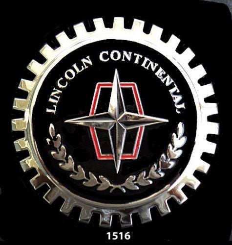 LINCOLN CONTINENTAL CAR GRILLE BADGE EMBLEM