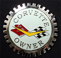 CORVETTE CAR GRILLE BADGE EMBLEM