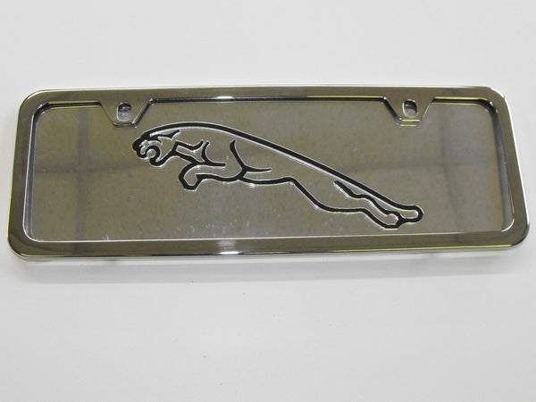 JAGUAR CHROME LICENSE PLATE FRAME