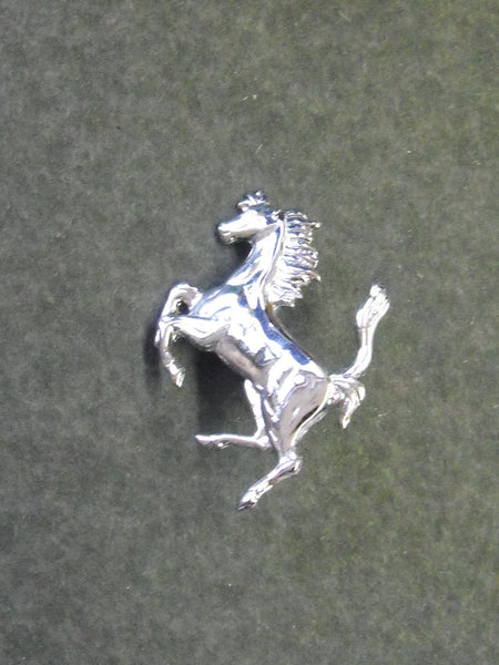 Ferrari Cavallino Rampante Badge Small Chrome 1.5 inch (40MM)