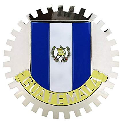 GUATEMALA FLAG CAR GRILLE BADGE EMBLEM