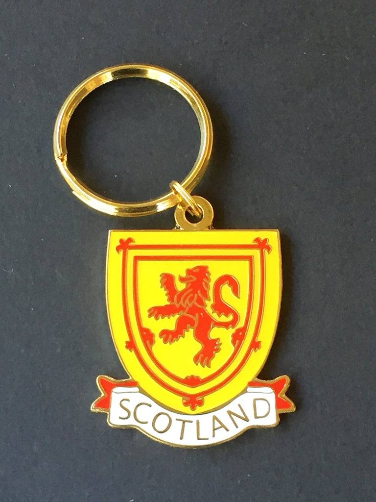 SCOTLAND ENAMEL KEY CHAIN KEY FOB