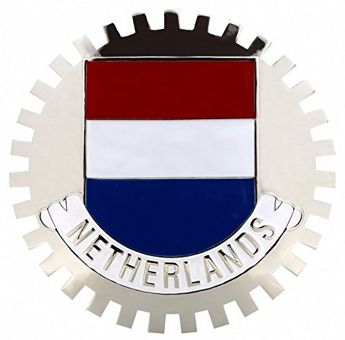 NETHERLANDS FLAG CAR GRILLE BADGE EMBLEM