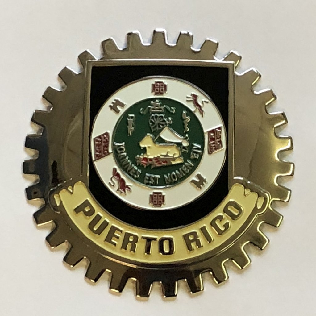 PUERTO RICO CREST COAT OF ARMS CAR BADGE EMBLEM