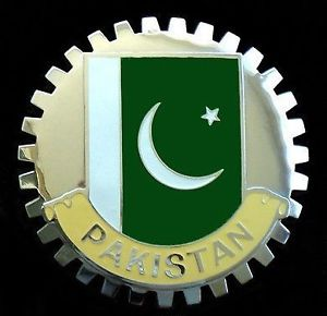 PAKISTAN FLAG CAR GRILLE BADGE EMBLEM