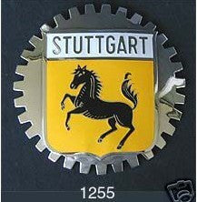 STUTTGART CREST AUTOMOBILE GRILLE BADGE EMBLEM