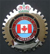 ROYAL AUTO CLUB OF CANADA CAR BADGE EMBLEM