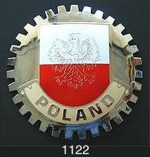 POLISH FLAG CAR GRILLE BADGE EMBLEM POLAND