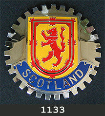 SCOTLAND COAT OF ARMS CAR GRILLE BADGE EMBLEM