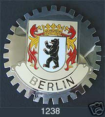 BERLIN GERMANY CAR GRILLE BADGE EMBLEM