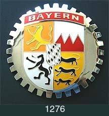 BAYERN GERMANY COAT OF ARMS CAR GRILLE BADGE
