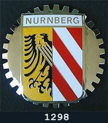 NURNBERG GERMANY CREST CAR GRILLE BADGE EMBLEM