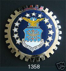 UNITED STATES AIR FORCE CAR GRILLE BADGE EMBLEM