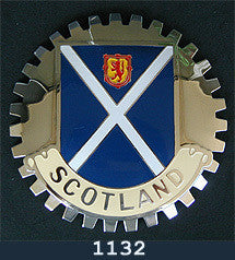 SCOTLAND FLAG CAR GRILLE BADGE EMBLEM