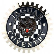 JAGUAR COVENTRY AUTOMOBILE GRILLE BADGE EMBLEM XK