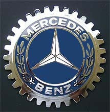 VINTAGE MERCEDES CAR TRUCK GRILLE BADGE EMBLEM