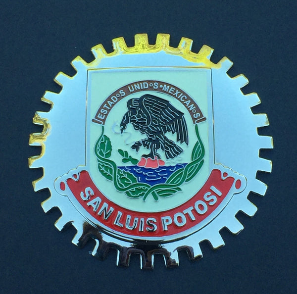 SAN LUIS POTOSI MEXICO CAR GRILLE BADGE EMBLEM