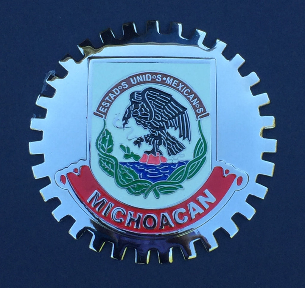 MICHOACAN MEXICO CAR GRILLE BADGE EMBLEM TRUCK