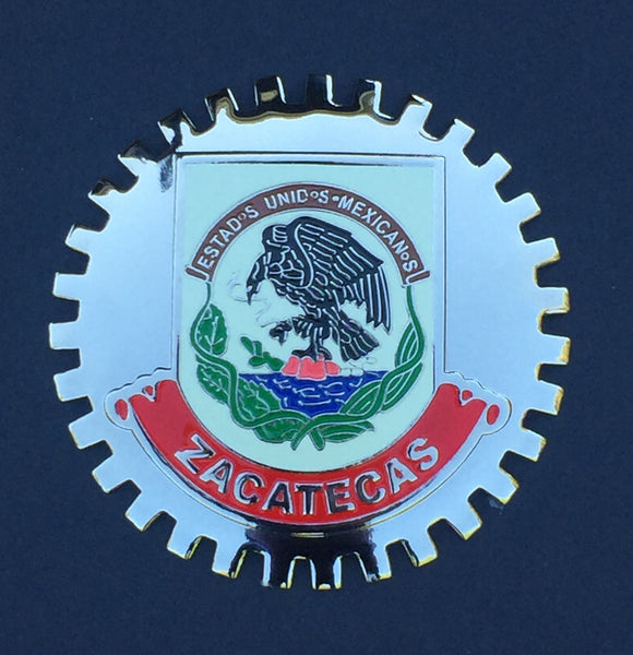ZACATECAS MEXICO CAR GRILLE BADGE EMBLEM