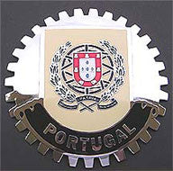 PORTUGAL CREST COAT OF ARMS CAR GRILLE BADGE EMBLEM