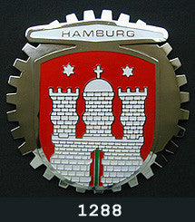 HAMBURG GERMANY AUTOMOBILE GRILLE BADGE