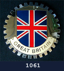 FLAG OF GREAT BRITAIN CAR BADGE EMBLEM BRITISH