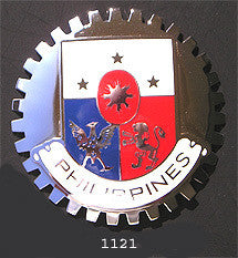 PHILIPPINES COAT OF ARMS CAR GRILLE BADGE EMBLEM