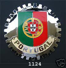 PORTUGAL FLAG CAR GRILLE BADGE EMBLEM