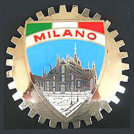 MILANO ITALY CAR GRILLE BADGE EMBLEM