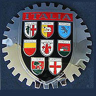 ITALIA COAT OF ARMS CAR GRILLE BADGE EMBLEM ITALY