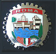 ROMA ITALY CAR GRILLE BADGE EMBLEM ROME
