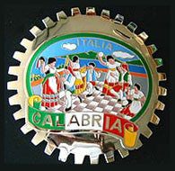 CALABRIA ITALY CAR GRILLE BADGE EMBLEM