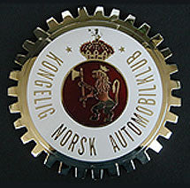NORWEGIAN AUTOMOBILE CLUB CAR BADGE EMBLEM