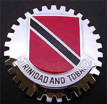 TRINIDAD AND TOBAGO FLAG CAR BADGE EMBLEM