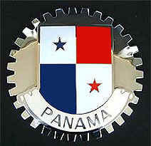 PANAMANIAN FLAG CAR GRILLE BADGE EMBLEM