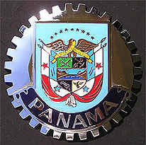 PANAMA COAT OF ARMS CREST CAR GRILLE BADGE