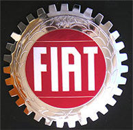 FIAT CAR GRILLE BADGE EMBLEM AUTOMOBILE BADGE