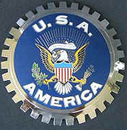 UNITED STATES SEAL AMERICAN EAGLE CAR GRILLE BADGE EMBLEM