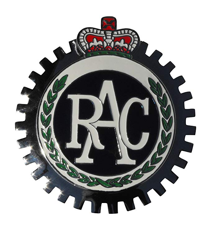 RAC CAR GRILLE BADGE ROYAL AUTO CLUB ENGLAND