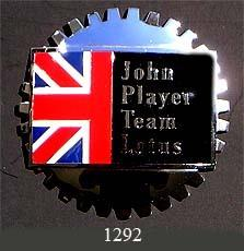 JOHN PLAYER TEAM LOTUS CAR GRILLE BADGE EMBLEM